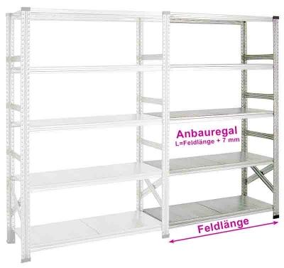 Fachboden-Anbauregal SUPER 2 1650 x 800 x 2000