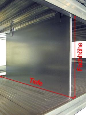 Fachteiler für Fachböden T=400, oben und unten fixiert