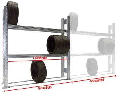 Reifen-Grundregal TSP für SUV und PKW-Reifen H=3000 mm 4 Ebenen