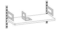 Bücherbügel für Wandregal, steckbar