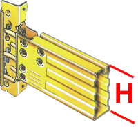 Palettenregalbalken SUPERBUILD 106/3 1800 mm, gelb</br>3000 kg pro Paar