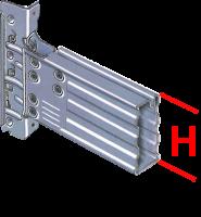 Palettenregalbalken SUPERBUILD 106/3 1800 mm, verzinkt</br>3000 kg pro Paar