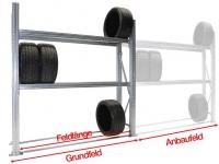 Reifen-Grundregal TSL für SUV-LLKW und große PKW-Reifen H=2500 mm 3 Ebenen