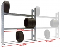 Reifen-Grundregal TSP für SUV und PKW-Reifen H=2000 mm 3 Ebenen