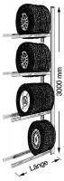 Reifen-Anbauregal UNIRACK 900 x 3000