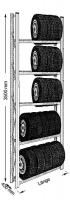 Reifen-Grundregal UNIRACK 900 x 3500
