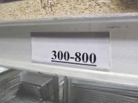 Scanner-Etikettenschiene weiß 105 mm