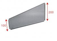 Trennblech für Aufgesetzte Lagerwanne 200 x 100 x 320 (H1xH2xT)