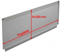 Trennelement für Fachböden H=200 mm, für Clipbefestigung