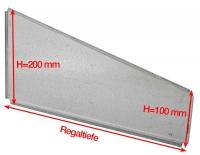 Trennelement für Fachböden H=100x200 mm, für Clipbefestigung